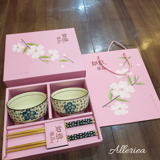 Premium Bowl And Chopstick Set by Alleriea Wedding Gifts - 005