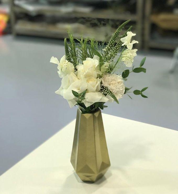 Solemnization / Reception Table / Wedding Venue Decoration by Petite Fleur SG - 033