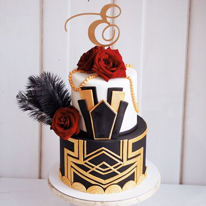 2 tiers Celebration Cake (Wedding, Birthdays, etc) by duchess bakes - 023