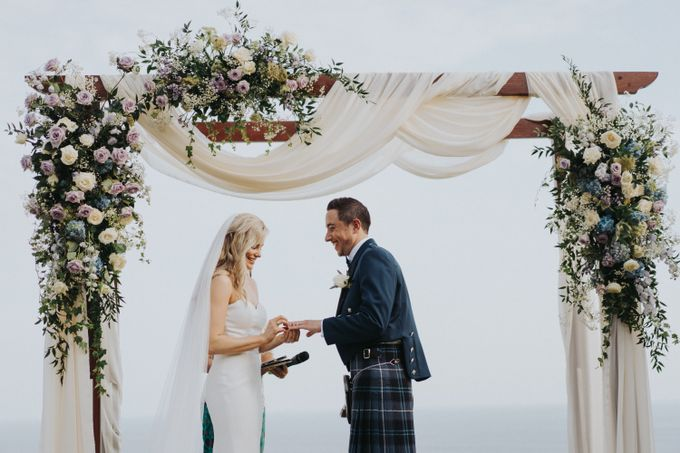 Beautiiful Clifftop Wedding of Kyle & Kelly by Silverdust Decoration - 005