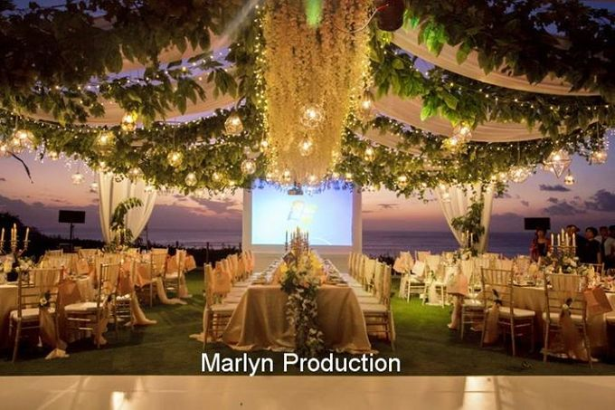 Outdoor Wedding Dinner Reception At Ayana Villa by Marlyn Production - 005