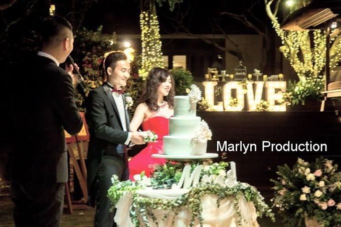 Outdoor Wedding Dinner Reception At Ayana Villa by Marlyn Production - 010