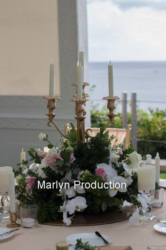 Outdoor Wedding Dinner Reception At Ayana Villa by Marlyn Production - 009