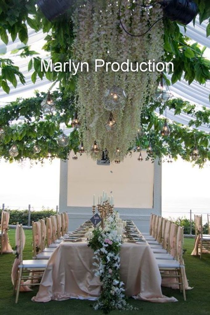 Outdoor Wedding Dinner Reception At Ayana Villa by Marlyn Production - 007