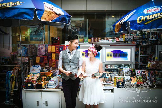Bustling Street of Hong Kong by Cang Ai Wedding - 016