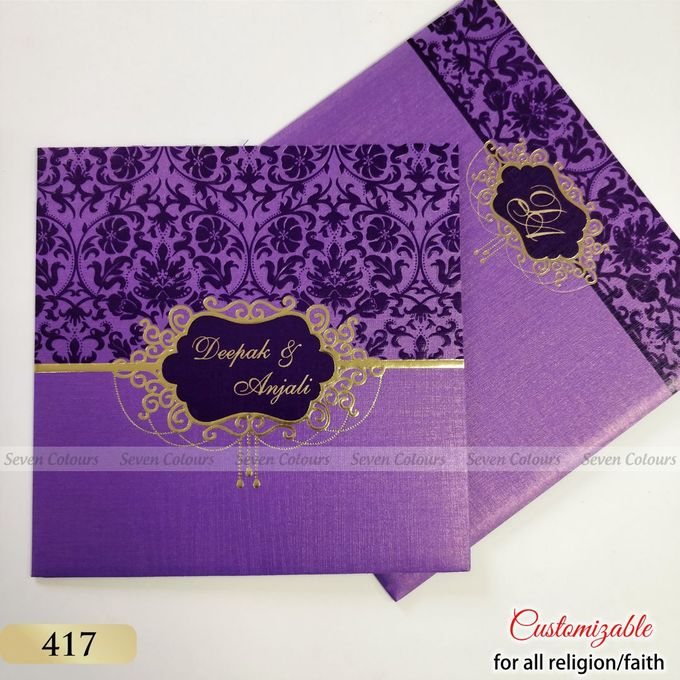 Designer wedding invitations collection by SEVEN COLOURS CARD - 009