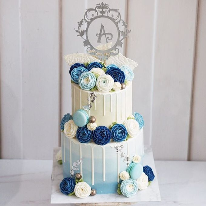 2 tiers Celebration Cake (Wedding, Birthdays, etc) by duchess bakes - 022