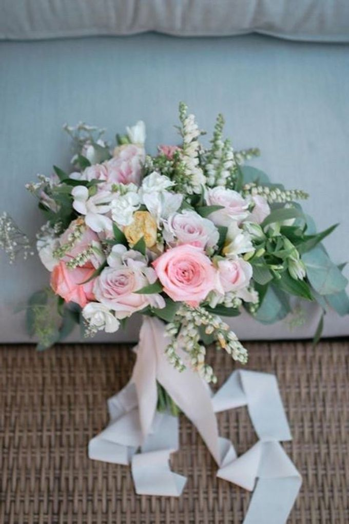 Pink Peach and Modest Shades of Romance by Flora Botanica Designs - 016