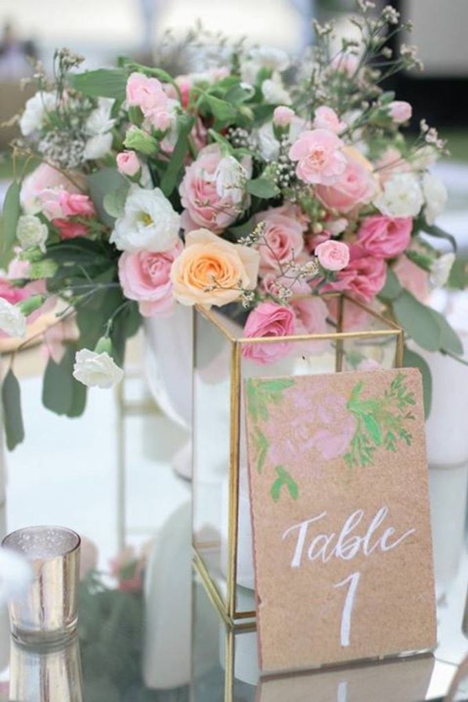 Pink Peach and Modest Shades of Romance by Flora Botanica Designs - 005