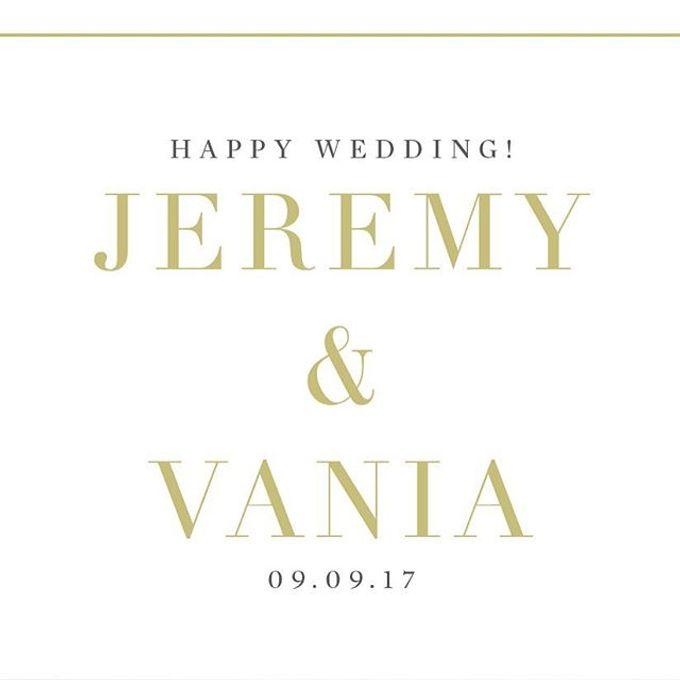 Wedding Of Jeremy & Vania by Vibonacci Event Crafter - 002