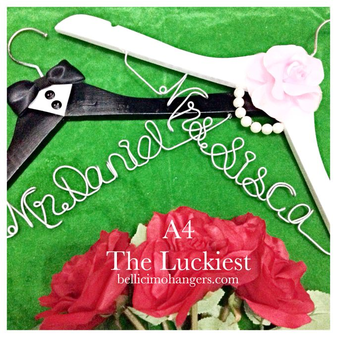 Couple Package by Bellicimo Hangers by Béllicimo Personalized Hanger & Favors - 004