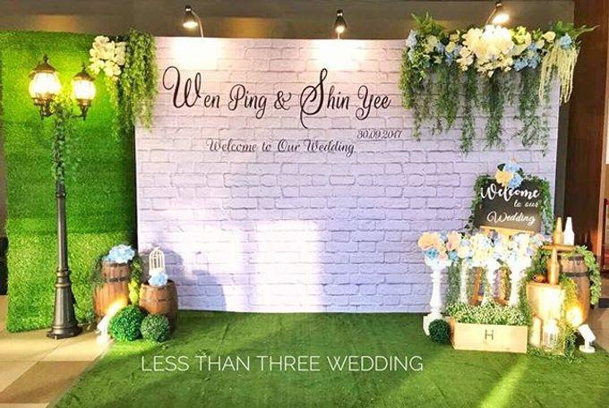 Wedding decoration by Less Than Three Wedding - 020