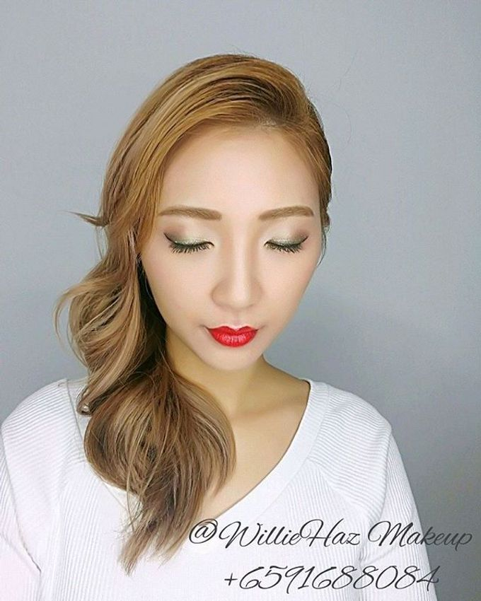 Korean Look Make Up And Hairstyle By Williehaz Hair Beauty