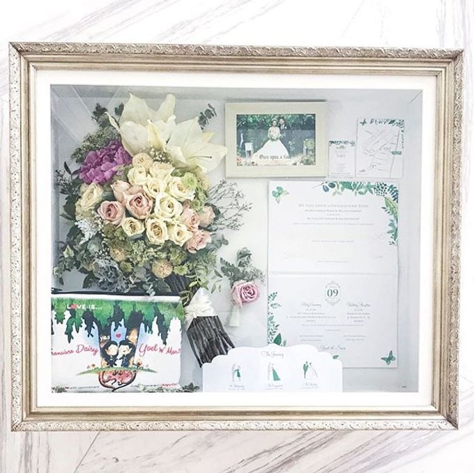 Yoel and  Fransisca PeonyRosesLily Bouquet by CONSERVÉ FLOWER PRESERVATION - 001