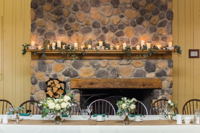 Rustic White and Green Wedding by Stone House Creative - 003