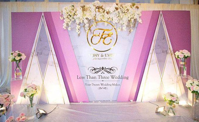 Wedding decoration by Less Than Three Wedding - 019
