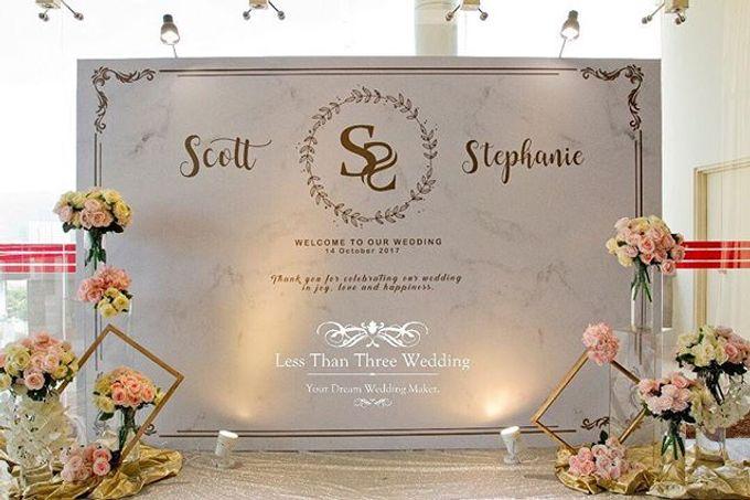 Wedding decoration by Less Than Three Wedding - 017