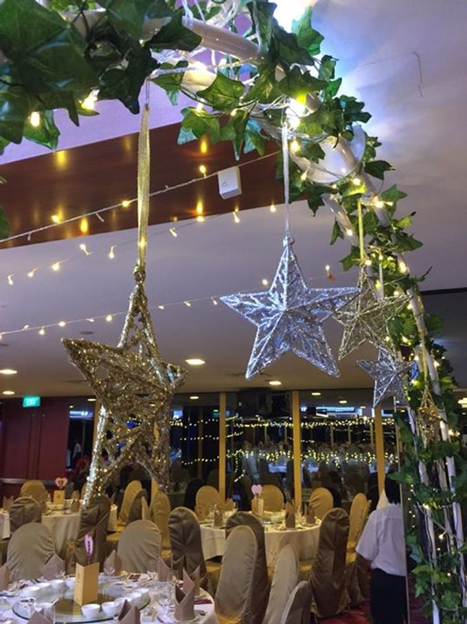 Fairylights Canopy and Customised Aisle Runner by Te Planner - 003