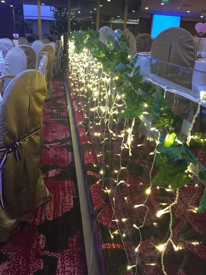 Fairylights Canopy and Customised Aisle Runner by Te Planner - 004
