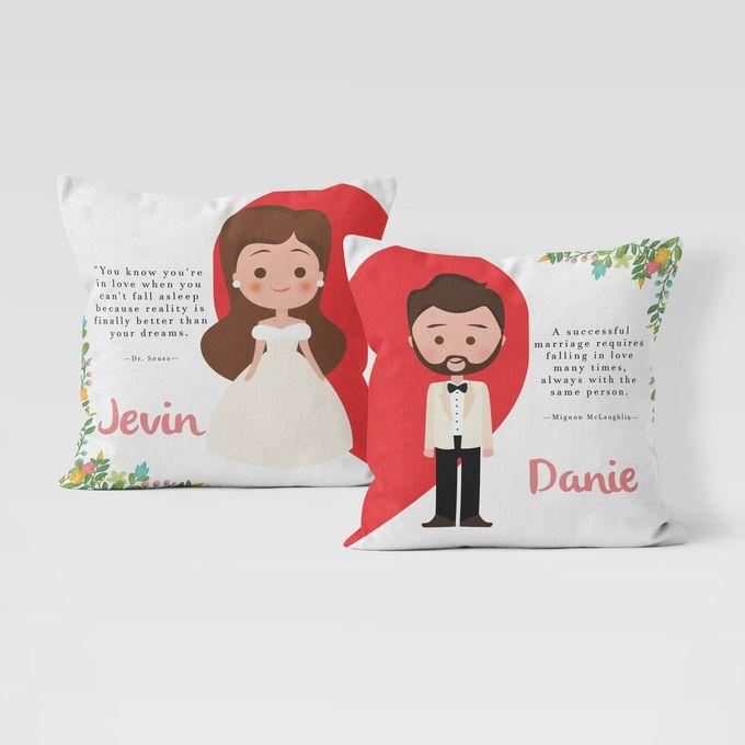Couple Custom Pillow by Hakuna Pillow Custom - 004