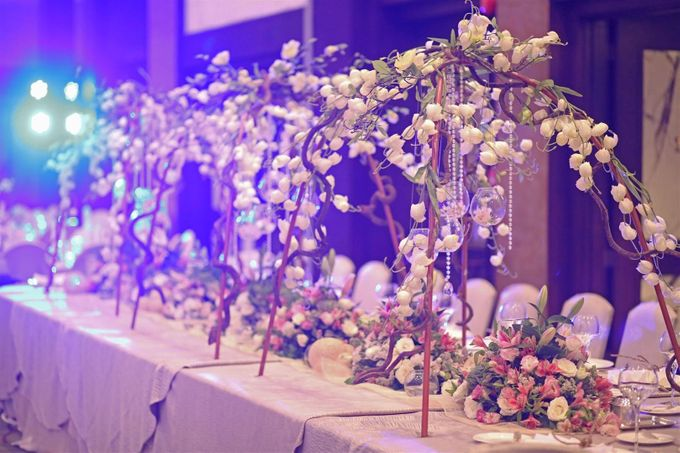 Reception Styling by Natural Art Flowers and Decors - 020