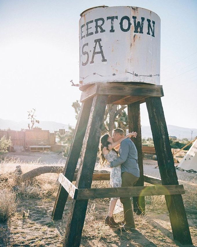 Pioneertown Engagement The Desert is Full of Wildflowers and Lovebirds by Pretty Branch Wedding Photo & Video - 003