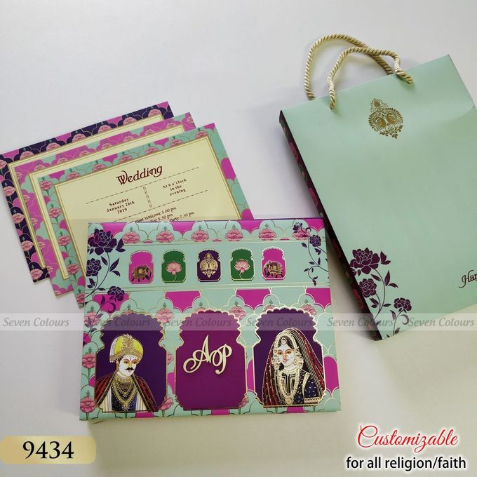 Designer wedding invitations collection by SEVEN COLOURS CARD - 010