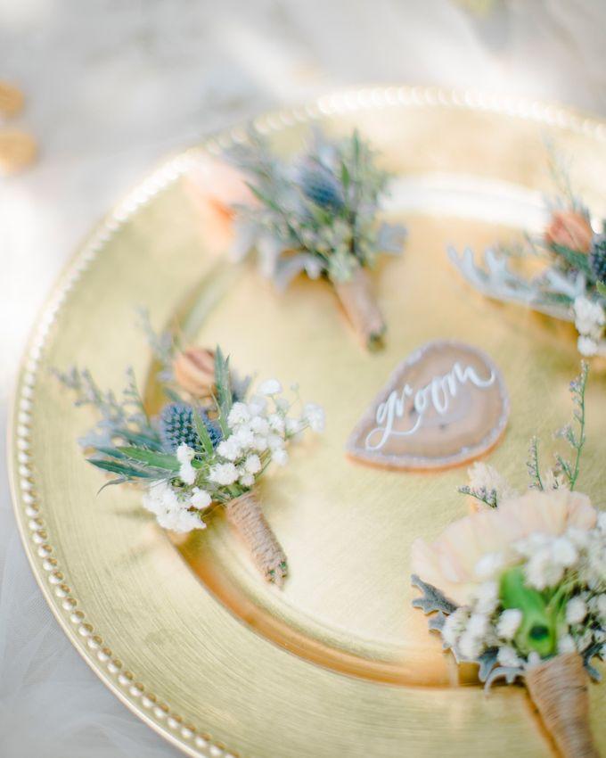 Elegant Vintage Coral Peach Palette for Willy and Luphyta Wedding at Plenilunio Villa Uluwatu by Bali Wedding Atelier - 007
