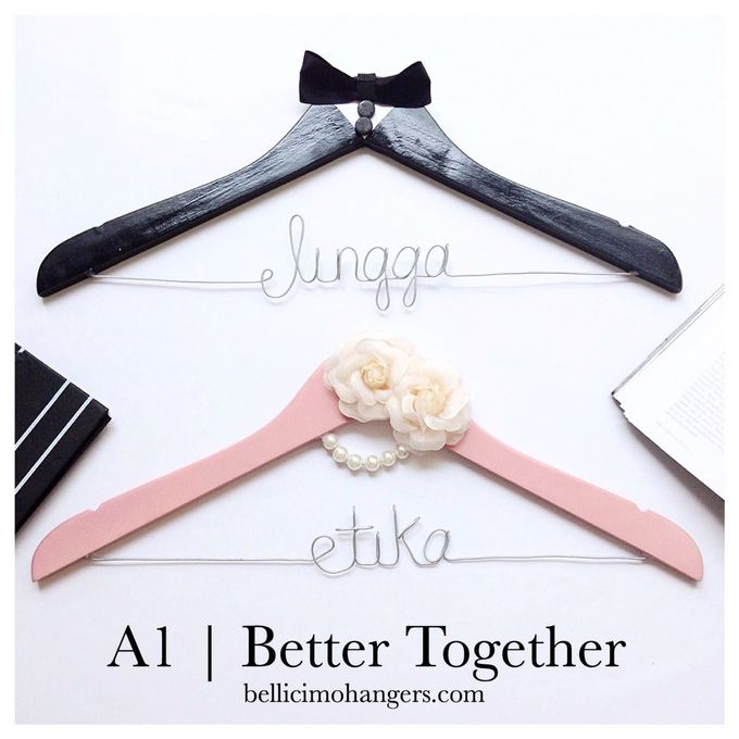 Couple Package by Bellicimo Hangers by Béllicimo Personalized Hanger & Favors - 001