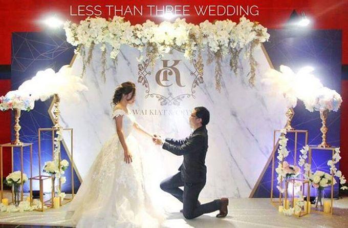 Wedding decoration by Less Than Three Wedding - 003