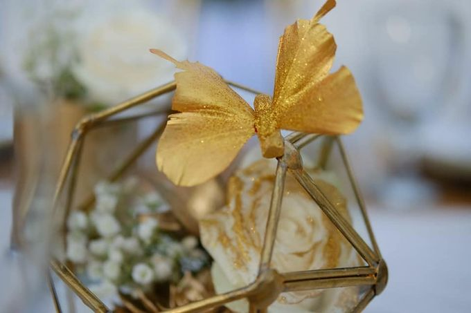 Elegance White on Gold by magical blossoms - 008