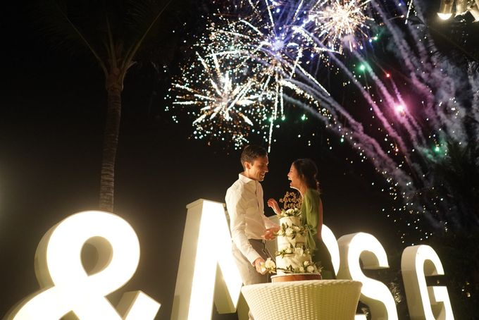 CA & Sebastian Wedding by THE UNGASAN CLIFFTOP RESORT BALI - 006