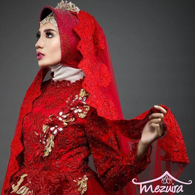 Muslim Modern Bridal Simple Elegant Mezuira Makeup Hijab Style Bridestory