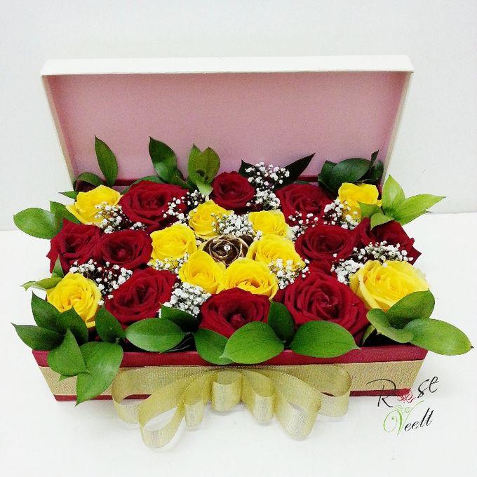 Flower in a Box Arrangement by Roseveelt Florist - 010