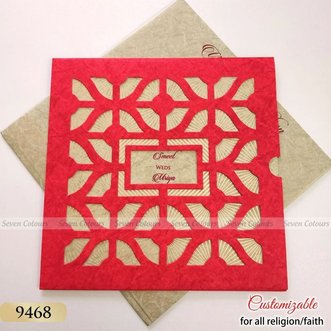 Designer wedding invitations collection by SEVEN COLOURS CARD - 012
