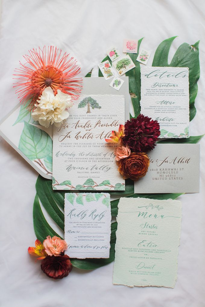 Gita Anindita & Jon Abbott Invitation Suite by Meilifluous Calligraphy & Design - 012