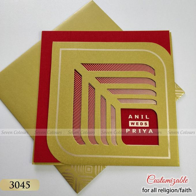 Designer wedding invitations collection by SEVEN COLOURS CARD - 013