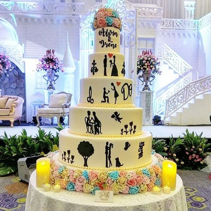 Wedding Cake Customize Design by RR CAKES - 012
