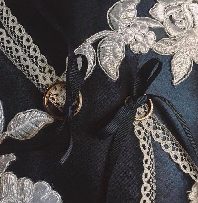 Midnight Blue Wedding Pillows by La Bella - 001