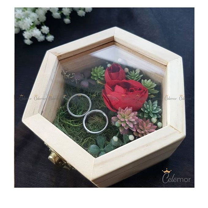 Hexa Box - Natural   Wedding Ring Bearer Box Indonesia - Celemor by Celemor - 001