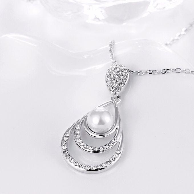 TIARIA Diamond Enlarged Pearl Gold Necklace Perhiasan Emas Kalung Berlian by TIARIA - 003