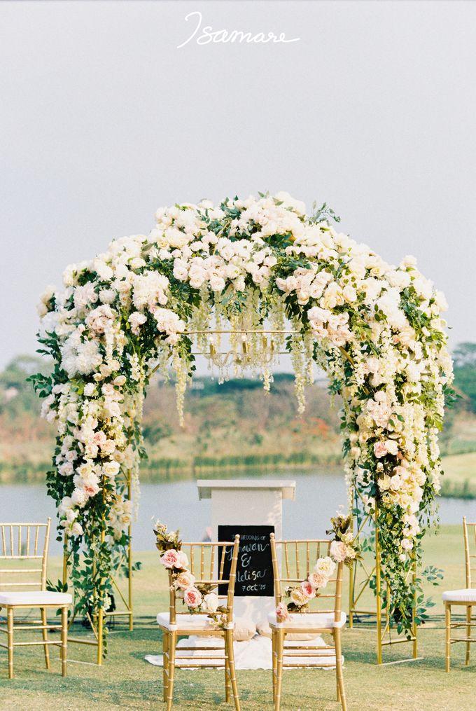Gunawan & Melisa - Timeless Blush & Gold Wedding by isamare - 002