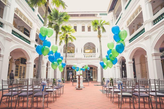 Wedding of Hsing Yang & Megdeline @ Halia at Raffles Hotel by The Halia - 002