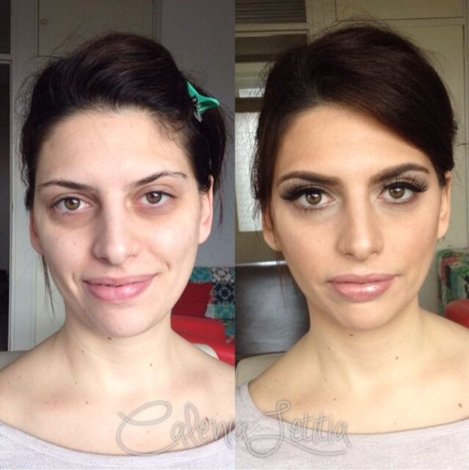 Before - After Makeup by Calenia Letitia Makeup Artist - 001