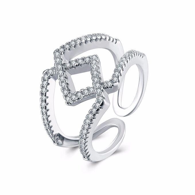 TIARIA Diamond Stack Gold Ring Perhiasan Cincin Emas Berlian by TIARIA - 003