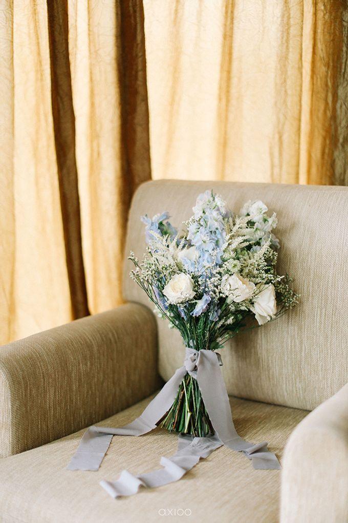 Villa Phalosa - Serene Dusty Blue Wedding by Flora Botanica Designs - 032