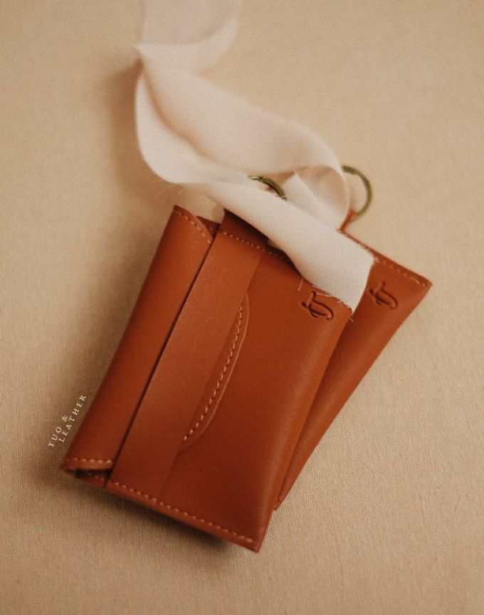 Inas and Taufan Card Holder by Yuo And Leather - 001