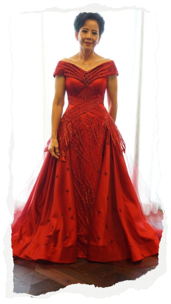 Red Mom Dress By Ilook Makeup Couture Bridestory Com,Ninang Formal Dress For Wedding Principal Sponsors Philippines