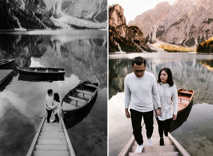 Lago di Braies Pre Wedding Couple Shoot - the most beautiful lake of Dolomites in Italy. by Fotomagoria - 035