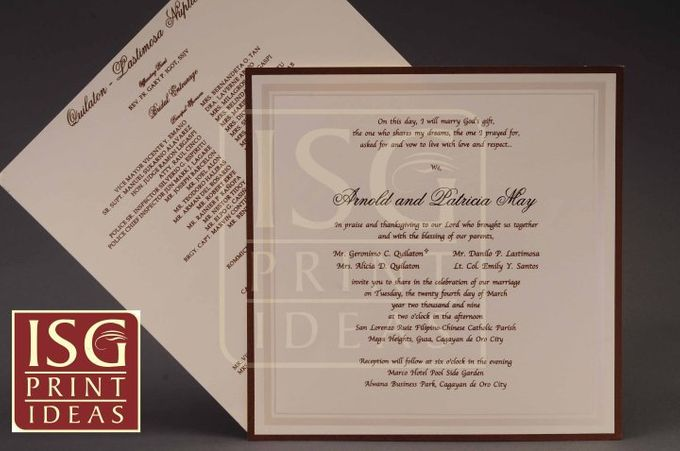 Wedding Formal Invitation by ISG Print Ideas - 001
